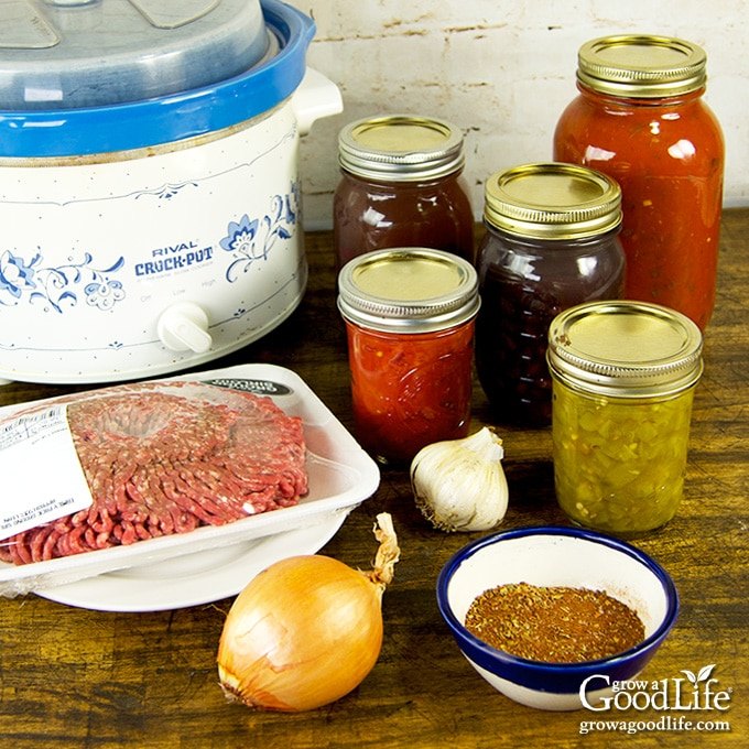 Ingredients for Slow Cooker Chili