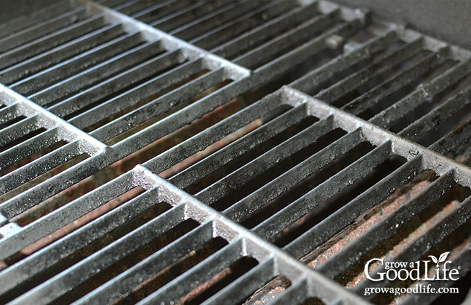 closeup of the grill