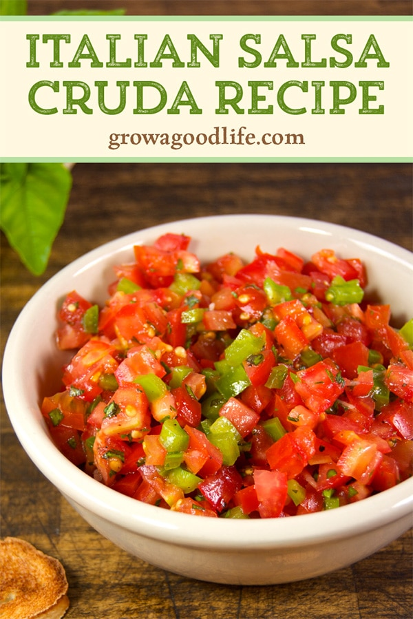 If you enjoy fresh salsa, you will like this Italian salsa cruda recipe. Also known as salsa cruda di pomodoro or raw tomato sauce. It is similar to the Mexican pico de gallo but with an Italian twist.