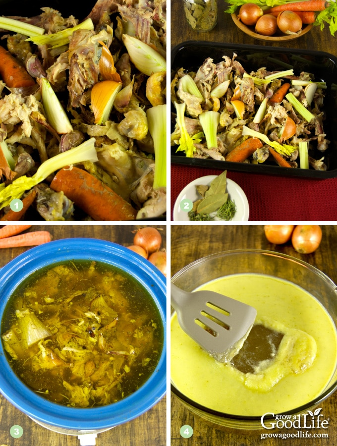 steps to making homemade chicken stock