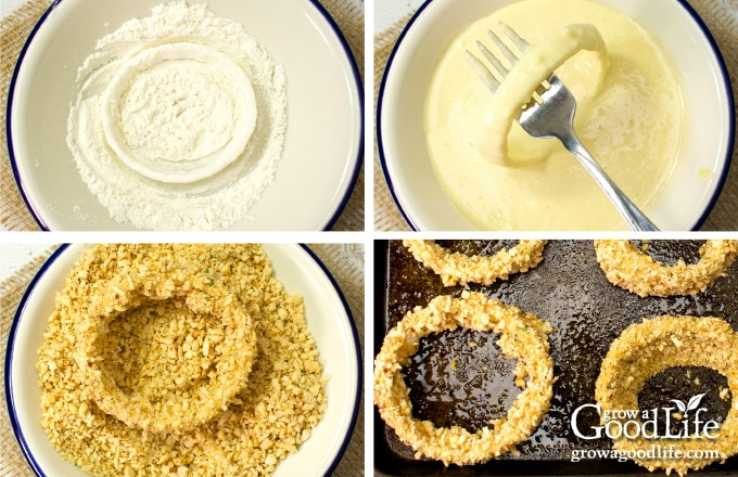 steps to breading onion rings
