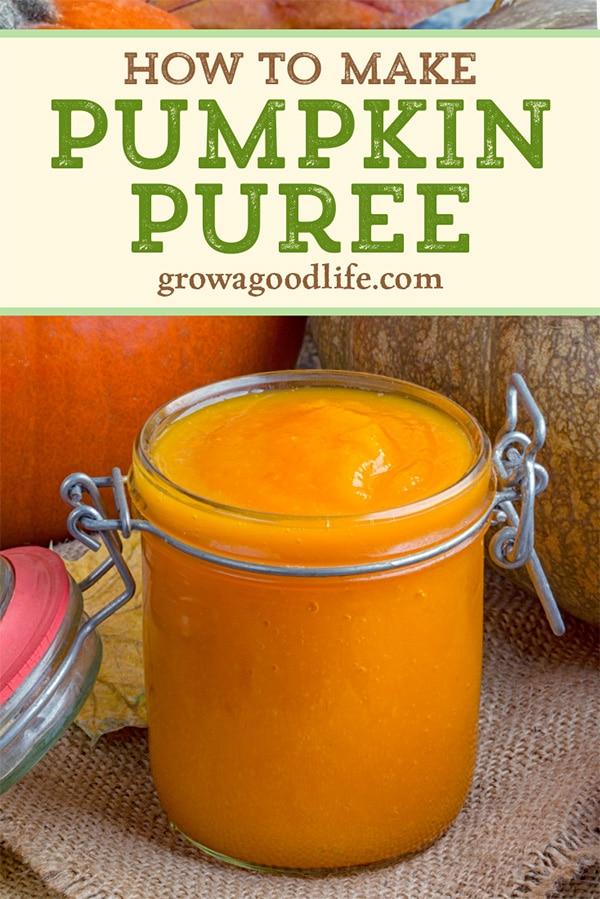 jar of pumpkin puree on a table