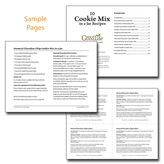 sample pages from 10 Cookie Mix in a Jar Recipes eBook