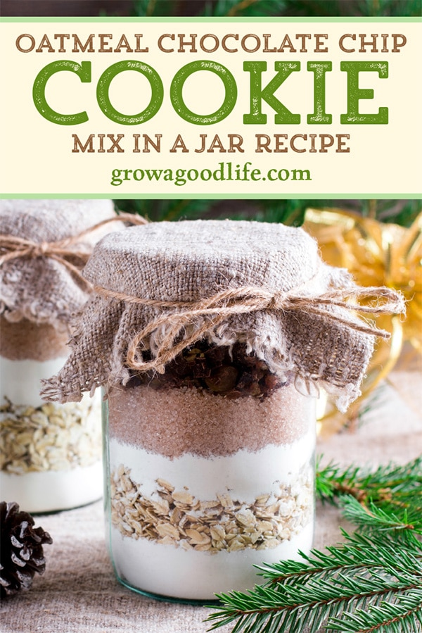 jar of cookie mix for gift giving