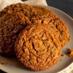 gingersnaps on a plate