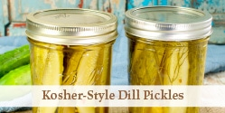 jars of canned dill pickle spears